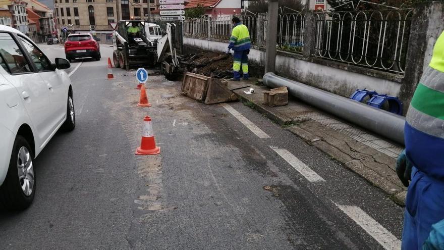 Restablecido el suministro de agua en Moaña tras 10 horas de corte