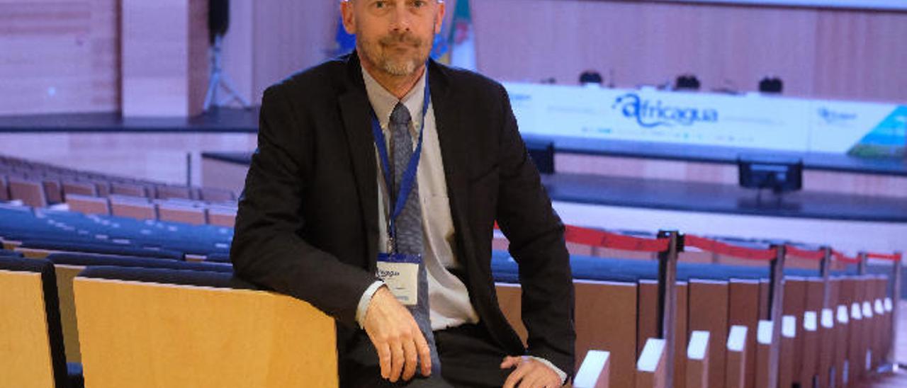 Eric Lancelot, responsable del Banco Mundial en varios países de África, ayer, en el Palacio de Congresos.