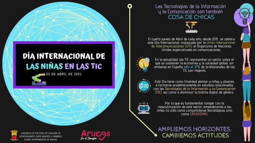 Arucas celebra el Día Internacional de las Niñas en las TIC para una mayor participación femenina en la tecnología