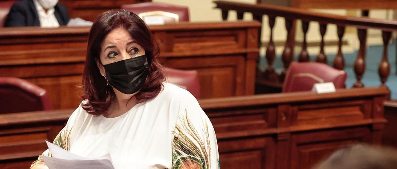 La consejera de Educación, Manuela Armas, ayer, en un momento del pleno parlamentario. | | MARÍA PISACA GÁMEZ