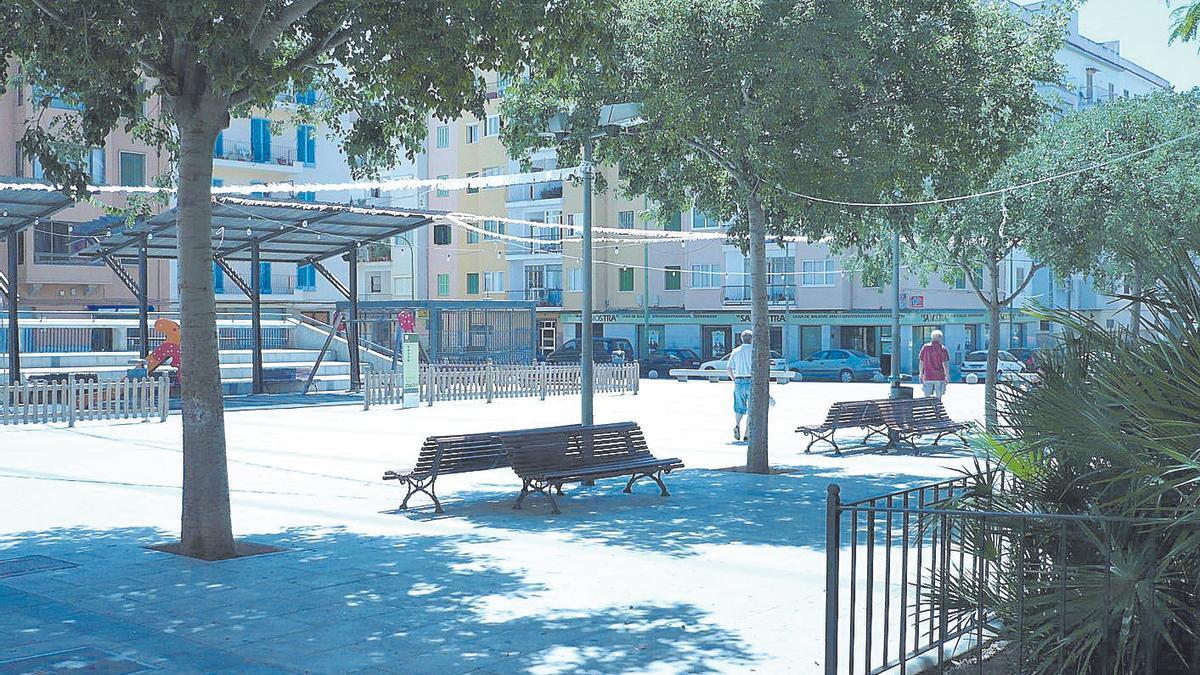 Plaza de Serralta, del barrio palmesano de Camp d'en Serralta.