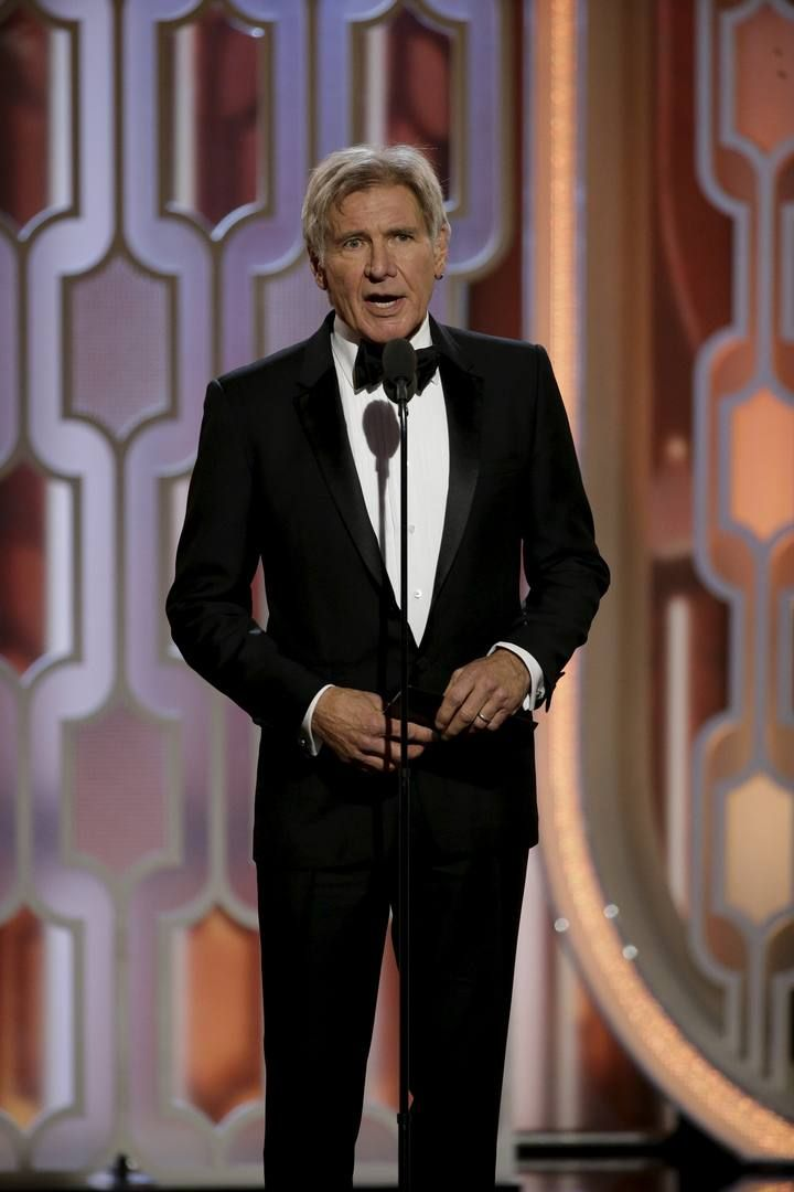 Ford presents Best Picture Drama at the 73rd Golden Globe Awards in Beverly Hills, California