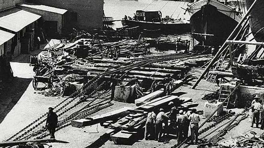 La zona de astilleros empieza a tomar forma en el siglo XIX