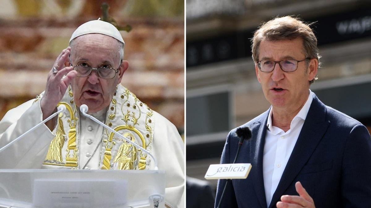 Papa Francisco y Feijóo.