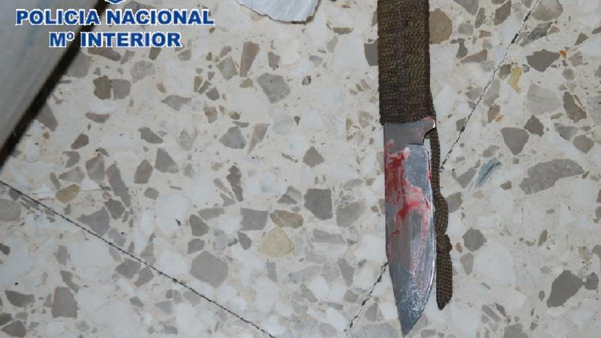 El arma recuperada por los investigadores.