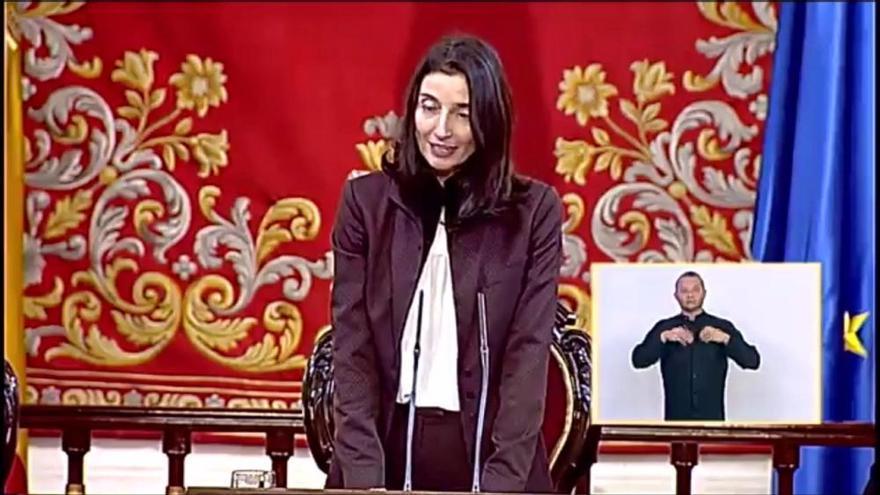 Primer discurs de Pilar Llop al Congrés dels Diputats