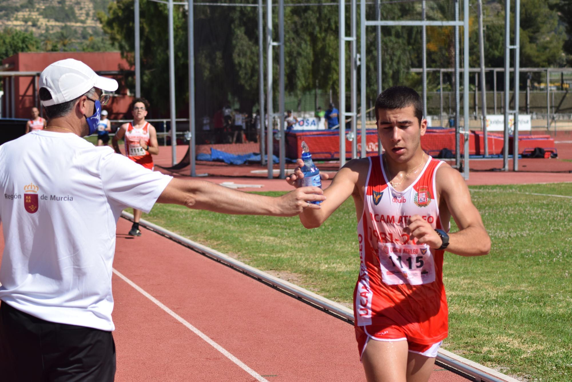 Control de atletismo en Alhama