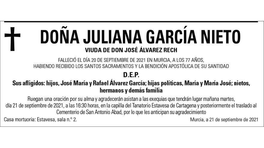 Dª Juliana García Nieto