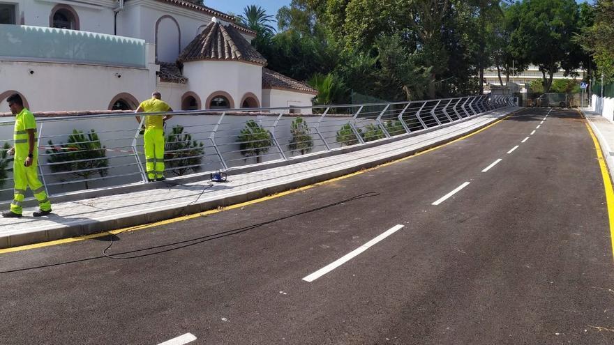 Estepona concluye el nuevo vial que conecta Casasola, Atalaya e Isdabe y evita incorporaciones a la autovía