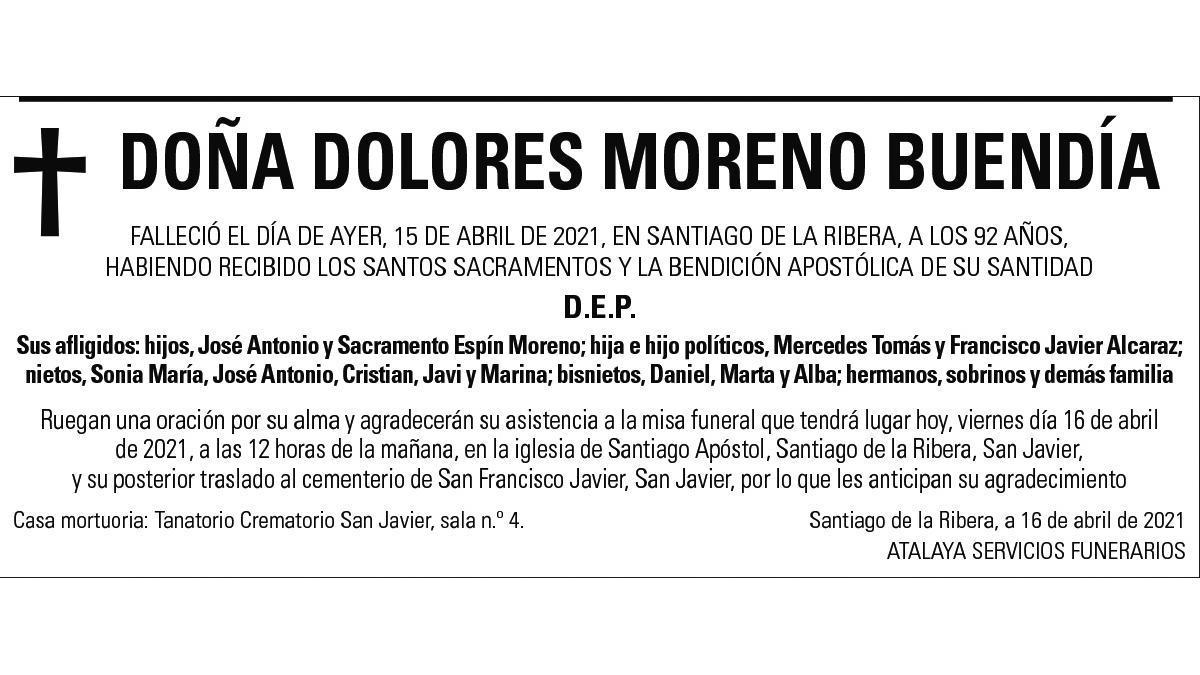 Dª Dolores Moreno Buendía