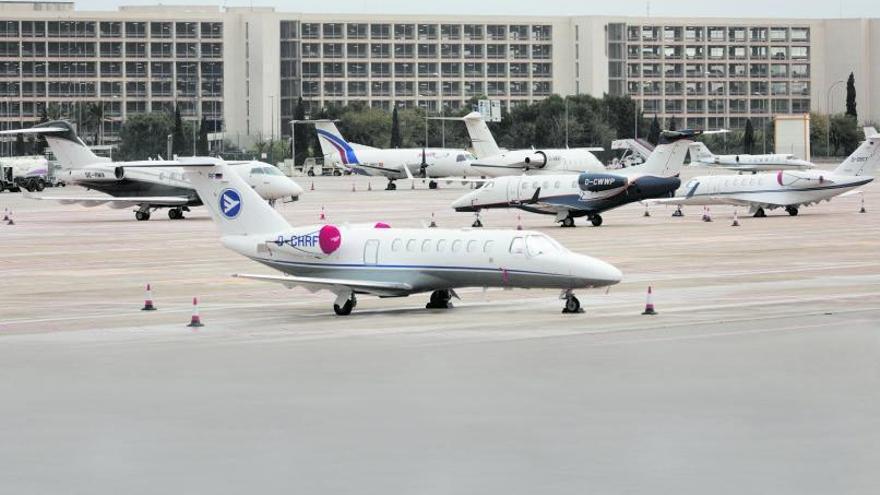 'Boom' de llegadas de 'jets' privados durante Semana Santa en Baleares