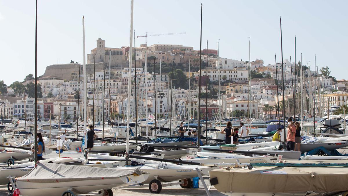 Zona de la escuela de vela del Náutico Ibiza. Vicent Marí