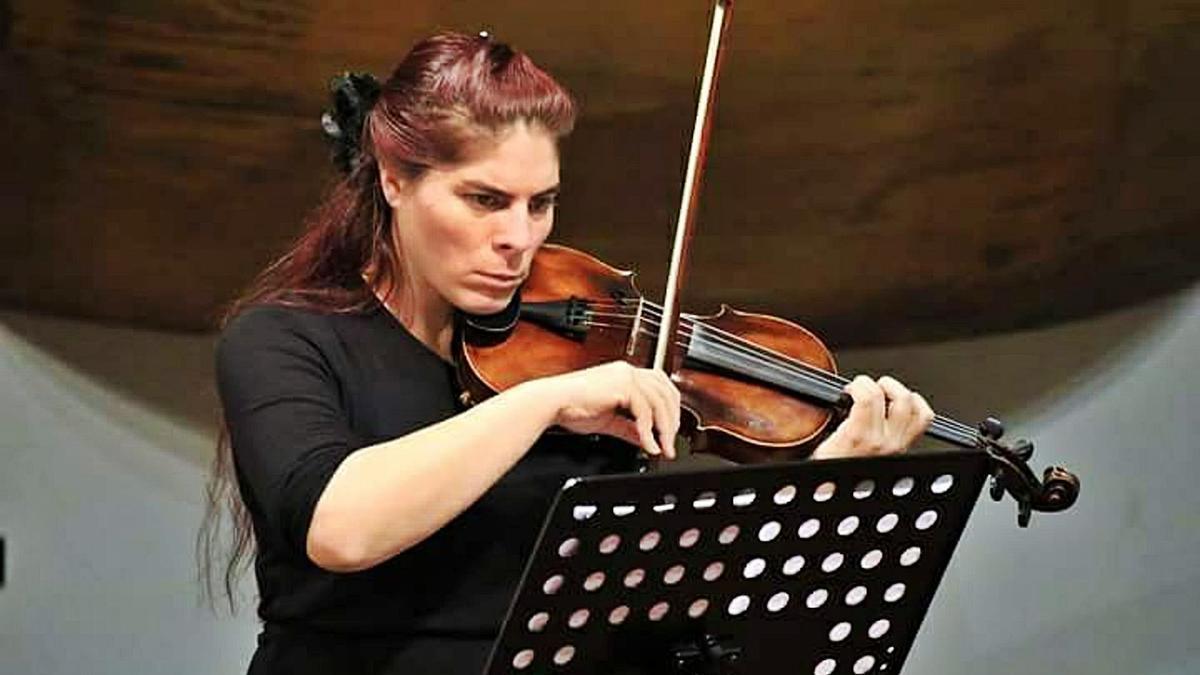 La soprano Monika Srncová durante una de sus actuaciones.