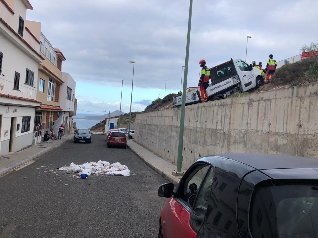 Accidente en la Urbanización Díaz Casanova (26/10/21)