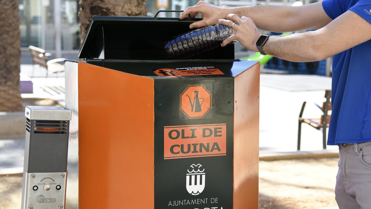 Uno de los contenedores instalados