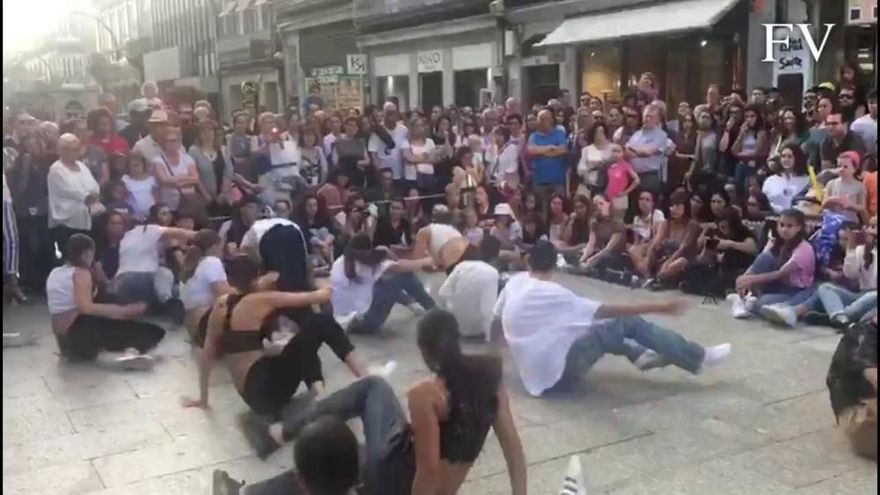 La calle Príncipe baila al ritmo de la danza urbana