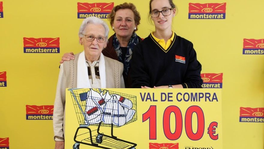 Lliurem un altre premi del carro de Supermercats Montserrat i l'EMPORDÀ