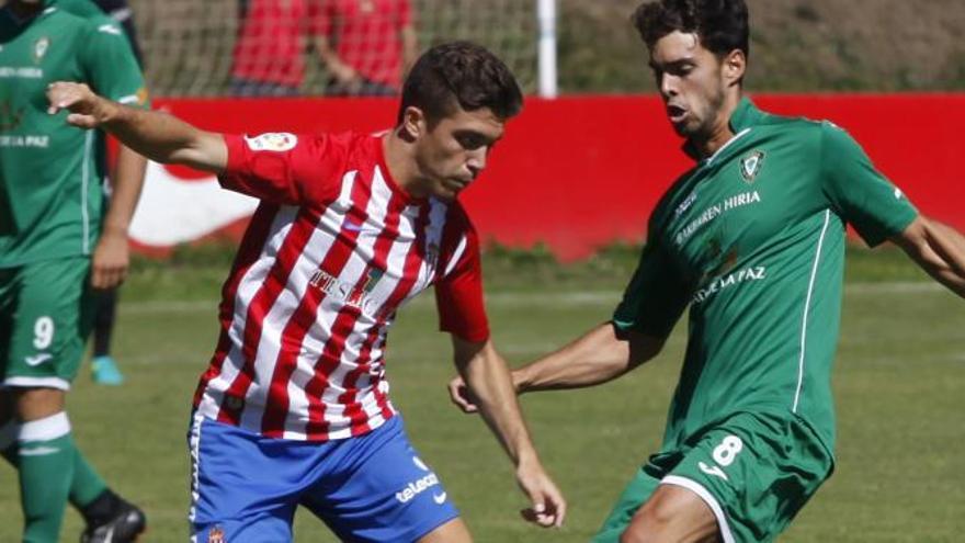 Nacho Méndez y Álex López, novedades en la convocatoria del Sporting para recibir al Lugo