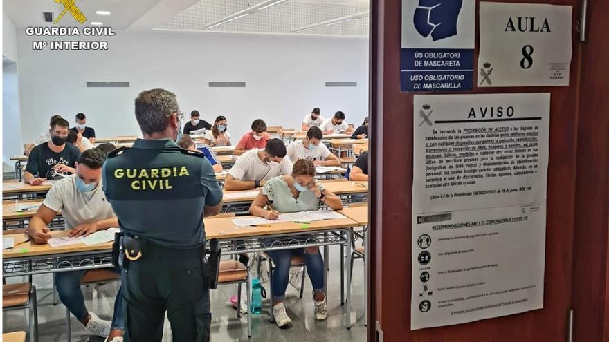 Más de 1.200 personas opositan en Alicante a una de las 2.091 plazas para Guardia Civil