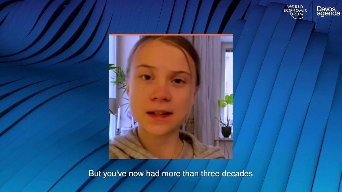 """Greta Thunberg, en Davos: """"Lleváis más de tres décadas de bla bla bla"""""""