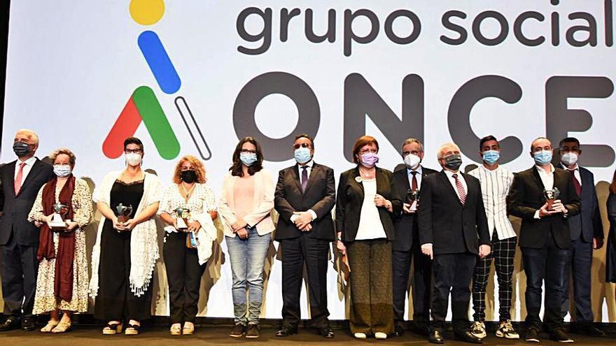 Els Premis Solidaris de l'ONCE guardonen la fortalesa valenciana