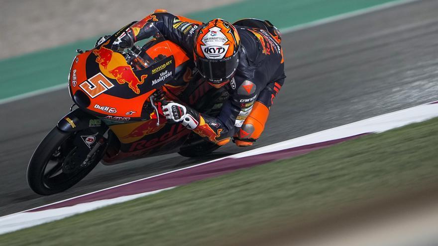 Jaume Masiá se lleva el triunfo en Losail en Moto3 con una estrategia final perfecta