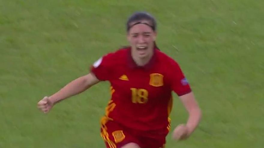El gol de Eva Navarro, elegido el tercero mejor de la temporada por la UEFA