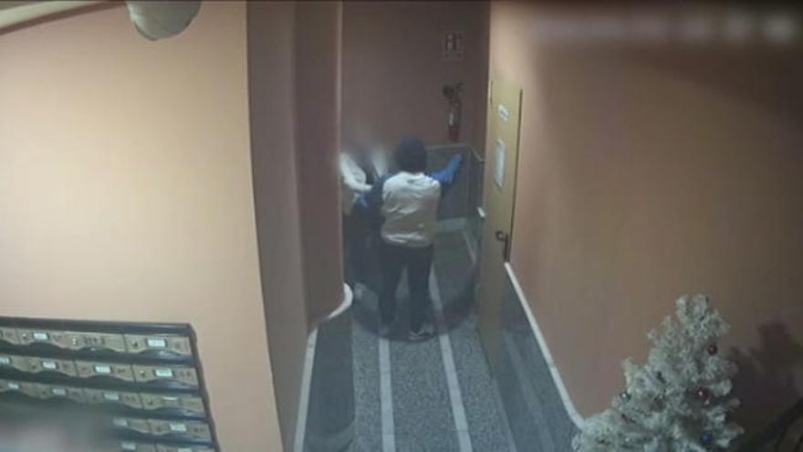 Vídeo | Violento atraco en Torrevieja: así atacó un ladrón a una mujer en el portal