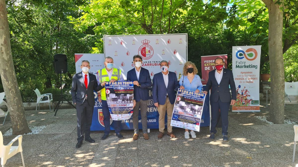 Presentación del torneo, este martes en Cáceres.