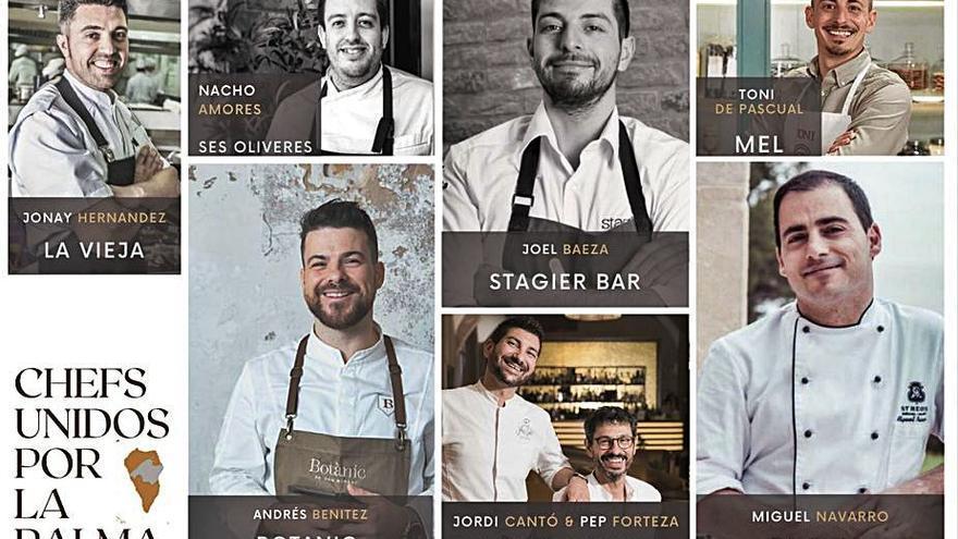 Ocho chefs de Mallorca cocinarán a beneficio de La Palma