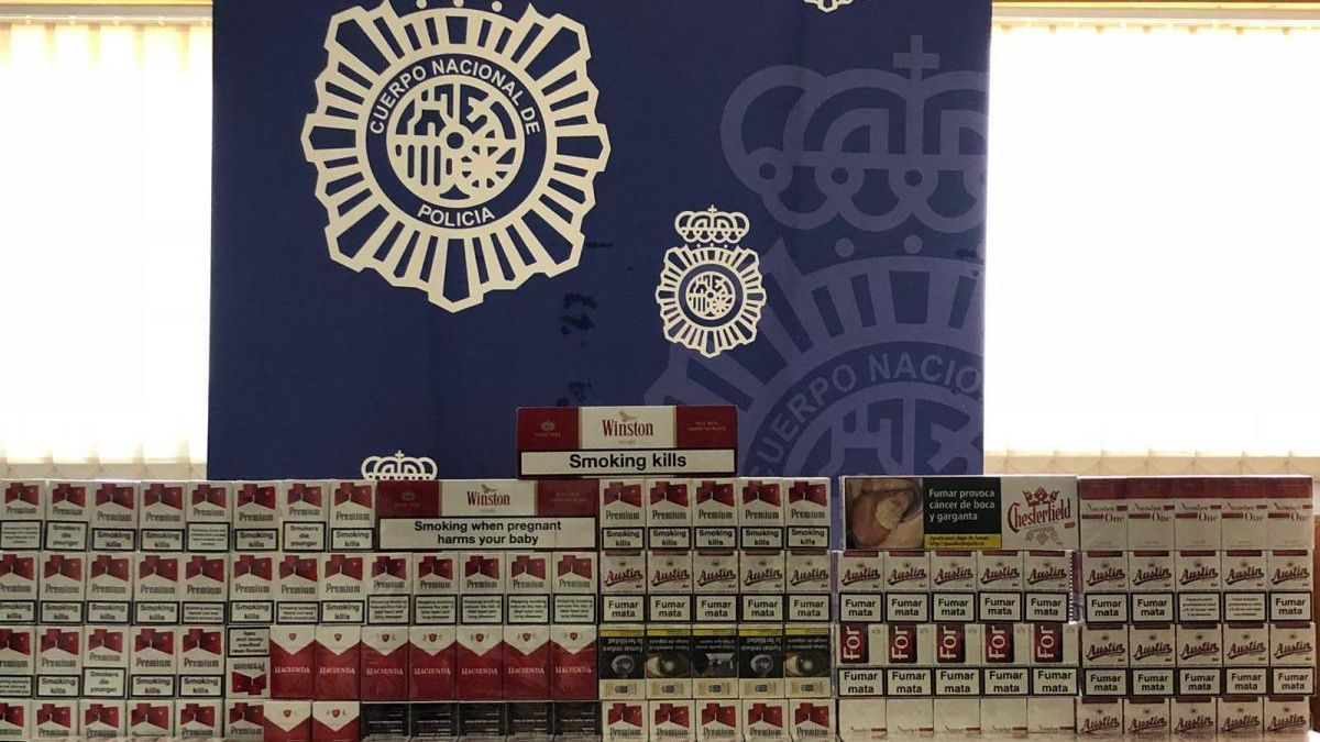 La Policía Nacional incautó 639 cajetillas de tabaco de contrabando durante el verano