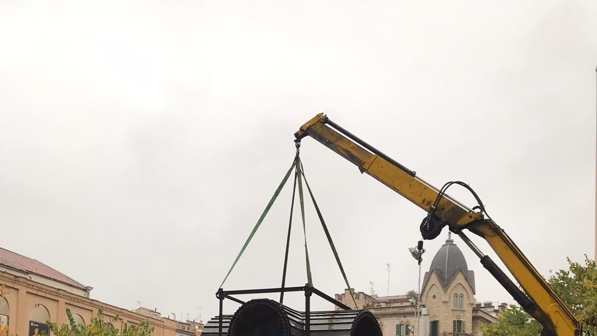 S'inicien els treballs de restauració del quiosc  