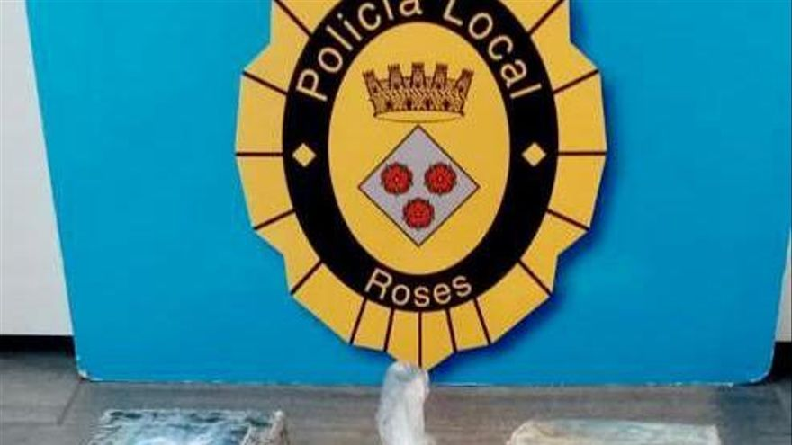 La Policia Local de Roses decomissa 2,8 quilos de cocaïna en un control rutinari
