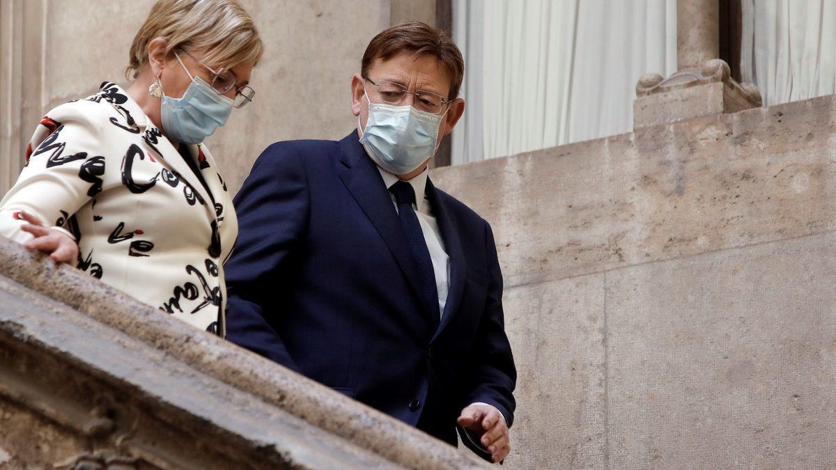 La consellera de Sanidad, Ana Barceló, y el presidente de la Generalitat, Ximo Puig.