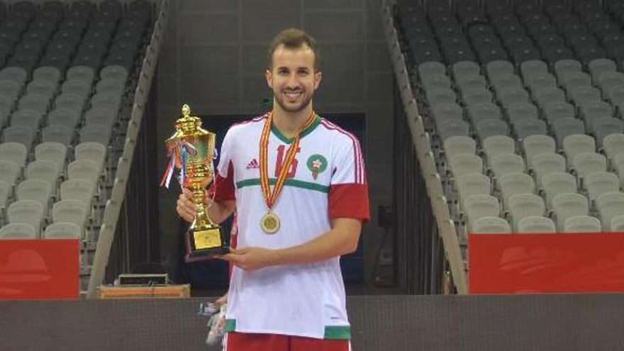 Asis Boukhress, jugador del Manresa FS, guanya un torneig amb Marroc a la Xina