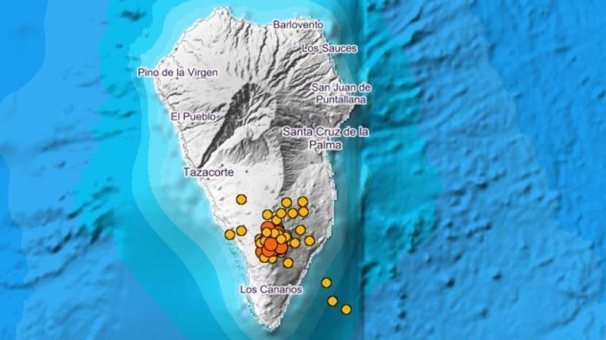El IGN localiza nueve terremotos durante la noche en La Palma