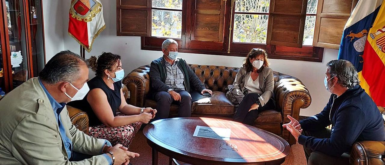 Alexis Henríquez (izquierda de la imagen), Elisa Marrero, Antonio Castillo, Concepción Monzón y Jaime Hernández, ayer. | | LP/DLP