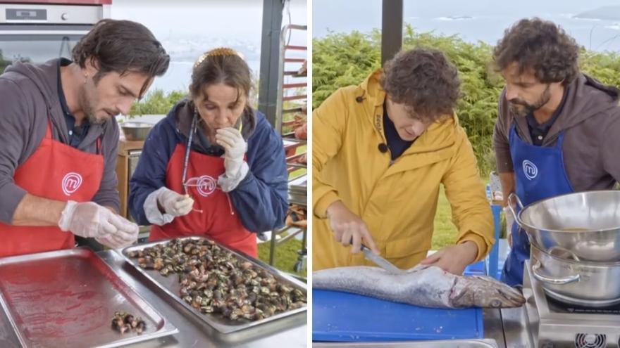 Desastre gastronómico de los celebrities de MasterChef en Galicia: percebeiros de Porriño y merluza con anisakis