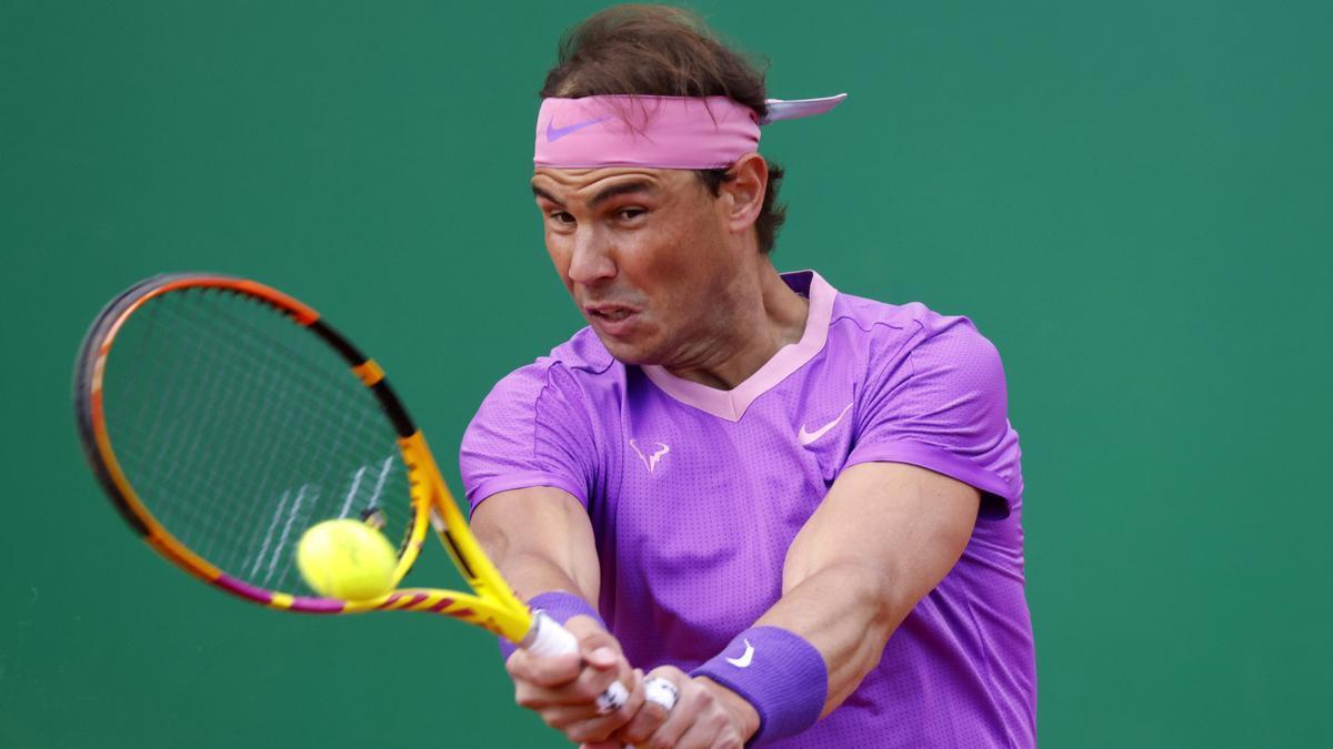 Rafael Nadal, en su partido ante Grigor Dimitrov.