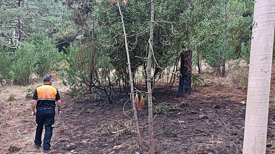 Incendio forestal en Viñó dentro de la Red Natura
