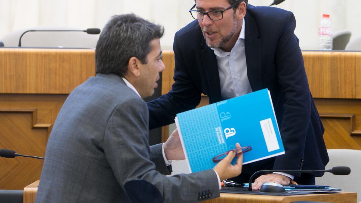 Carlos Mazón y Javier Gutiérrez en una imagen de archivo