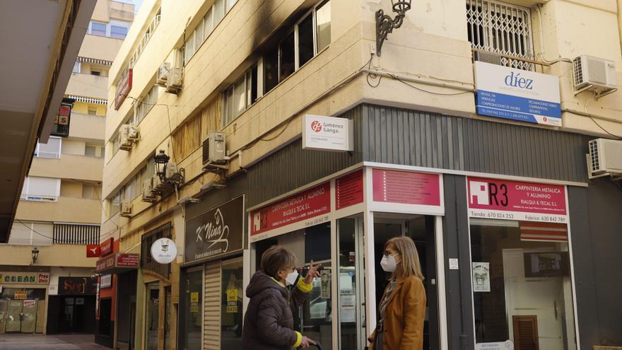 Un incendio afecta al despacho de abogados de José Díez en Xàtiva