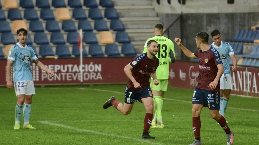 El Pontevedra se impone al Celta B en Pasarón