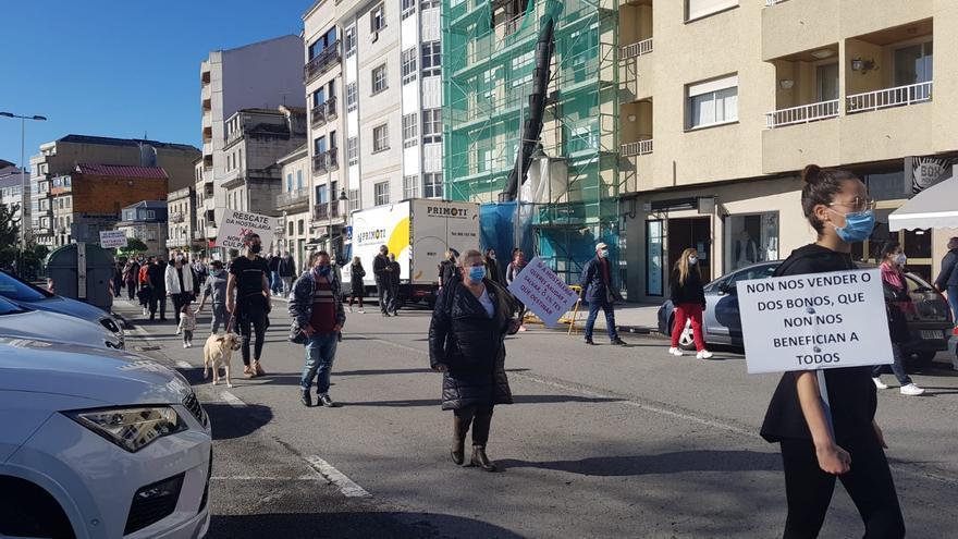 La hostelería se manifiesta en Moaña