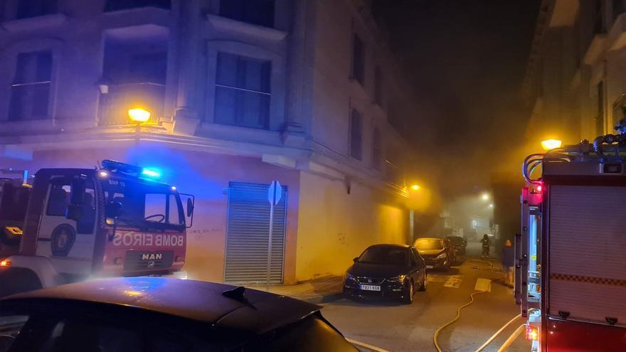 Desalojan de madrugada un edificio en Moaña por un incendio