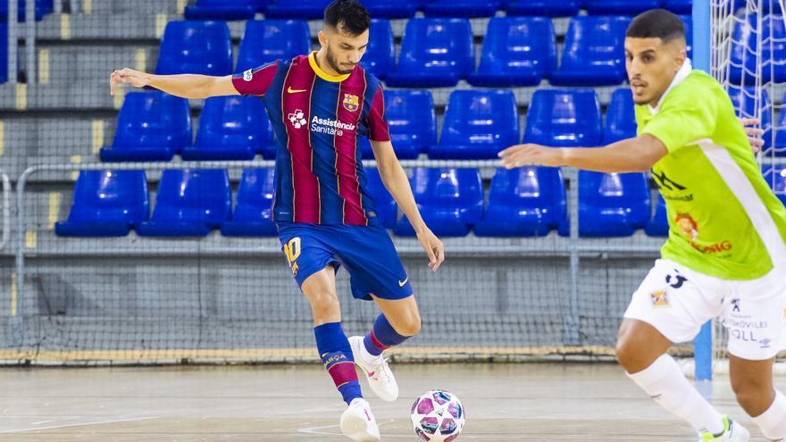 El Palma Futsal cede ante el Barça en su segundo examen de pretemporada