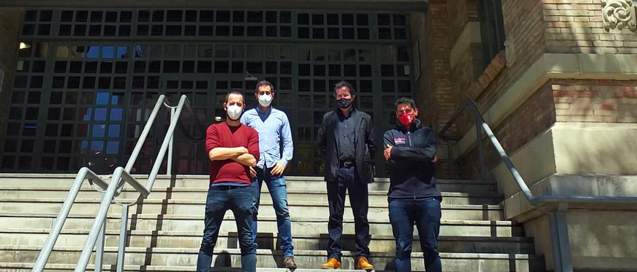 Los impulsores de la plataforma (de izquierda a derecha): Juan Morales, David Gil, José Manuel Albentosa y Aarón de la Cuadra.