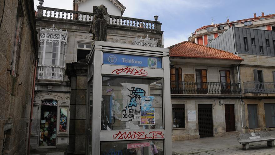 Las antiguas cabinas de teléfonos de Cangas no tendrán indulto
