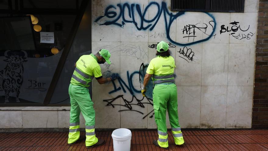 Un plan de choque contra los grafitis en Zaragoza