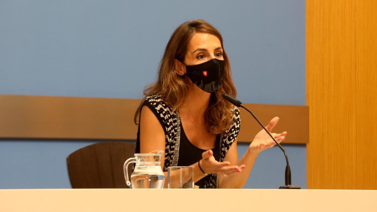 María Navarro, concejala de Hacienda del Ayuntamiento de Zaragoza.